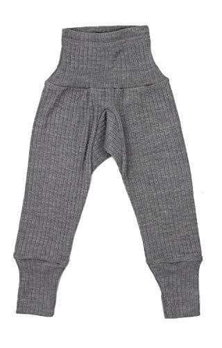 Cosilana Baby-Hose mit Nabelbund, Größe 86/92, Farbe Grau meliert - Qualität 91 45% Baumwolle kbA, 35% Schurwolle kbT, 20% Seide