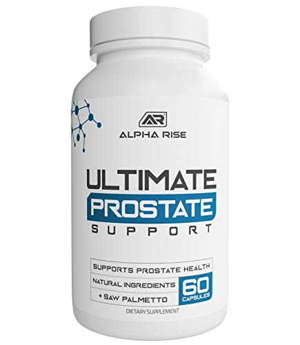 Ultimate Prostate Support - Saw Palmetto & Pygeum Supplement for Enlarged Prostatitis BPH Health - Herbal Vitamin Formula - Relief from Frequent Urination - Natural DHT Blocker Helps Prevent Hair Loss