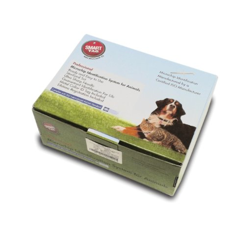 SmartTag ISO Microchip Box with Identification Tag for Pets, Standard