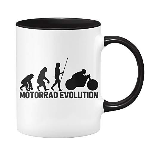 Motorrad Tasse - Motorrad Evolution - Geschenk für Motorradfahrer & Motorradfan - Geschenk für Biker