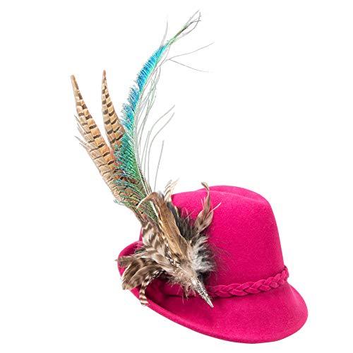 Alpenflüstern Filzhut Trachtenhut Marianne pink-Fuchsia ADV116