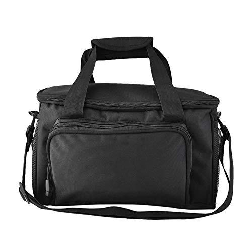 DAUERHAFT Single Shoulder Bag Canvas Angelgerät Tasche, zum Angeln, Reisen, für den Außenbereich(Black)
