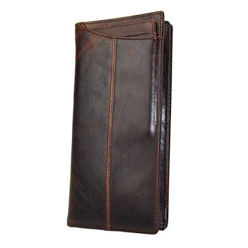 Our #6 Pick is the Le'aokuu Men's Leather Checkbook Wallet