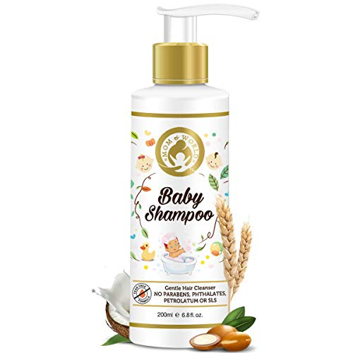 Mom & World Tear Free Baby Shampoo with Organic Moroccan Argan Oil and Oats Extract, 200 ml (NMOMWLD11)
