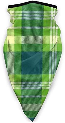 Winddichte Skimaske, Sport-Gesichtsmaske, Motorrad-Halswärmer, Schal, Schottenkaro in Blaugrün, Gelb und Weiß gestreift, Sturmhaube, Wärmespeicherung Gr. Einheitsgröße, siehe abbildung