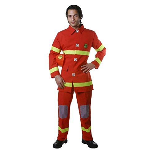 Dress up America Disfraz de Caza de Bomberos Rojo Adulto