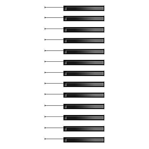 ZDDBD 3D Pegatinas De Escalera Impermeable Autoadhesivo Pegatina De Pared Vinilo Adhesivo Decorativo para Cuartos, Dormitorio,Cocina 18 * 100Cm * 13Pcs- Teclas del Piano