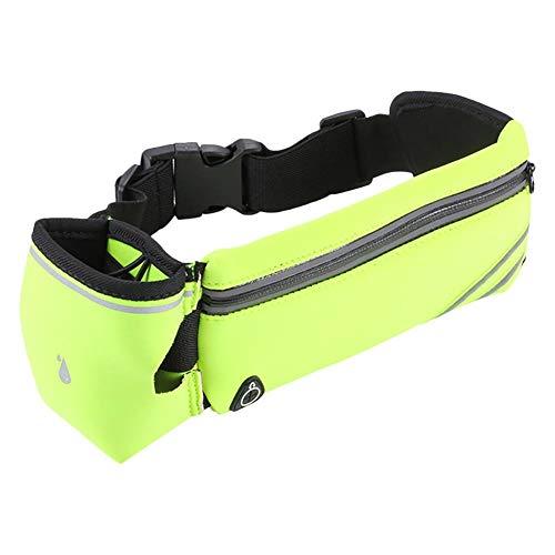 Doitsa - Riñonera de Senderismo para Trekking, Cinturones portabidones Running, cinturón de Carreras para teléfono móvil, 10 x 20 cm, Verde, Avoir UNE Bouteille