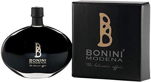BONINI Productor de vinagre balsámico tradicional de Módena DOP, aderezo Riserva 100 ml echo a mano con mosto de uva cocido, envejecido en barriles de 50 años, Made in Italy