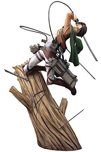 Kotobukiya Attack on Titan: Levi (Renewal Package Version) ArtFX J Statue, Multicolor
