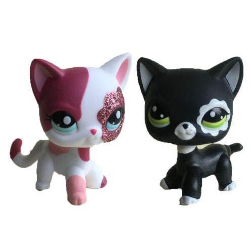 Littlest Pet Shop Collection LPS22 Short Hair Standing Pink Black Cat