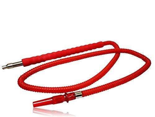 Bayli 1,8m Shisha Schlauch [Farbe - Rot] für Hookah | Ersatzschlauch für Wasserpfeife | Schlauch mit [gepolstertem] Mundstück