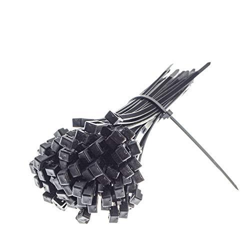 Premium Kabelbinder in Schwarz (100 Stück, 150mm x 2,5 mm) UV, Hitze und Kältebeständig, Extra Stark, Geprüfte Qualität