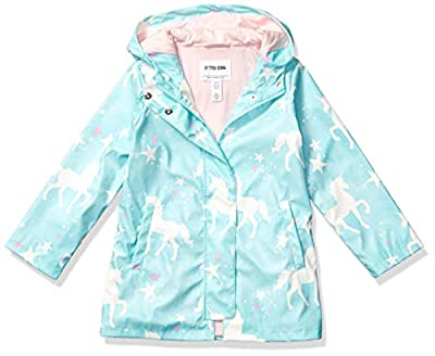 Amazon Brand - Spotted Zebra Kids Girls Rain Coat Jacket, Unicorns, Medium