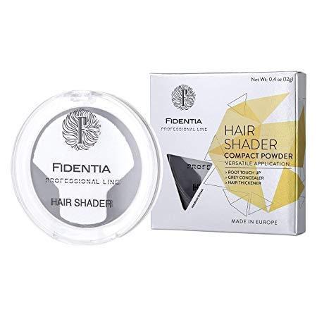Fidentia Hair Shader 12g | Made in EU | Haar Concealer Puder zur Haarverdichtung, Ansatz & Geheimratsecken kaschieren - Dunkelbraun