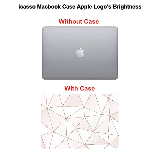 iCasso MacBook Air 13 inch Case (Release 2010-2017 Older Version), Plastic Pattern Hard Shell Protective Case & Keyboard Cover Only Compatible with MacBook Air 13 Inch Model A1369/A1466 - Fragments
