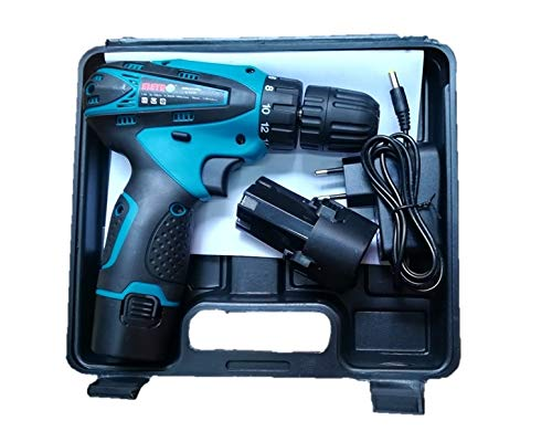 LNC International Eletro Cordless Screwdriver Drill Machine (10 mm Left/Right, 12v with 2 Batteries)
