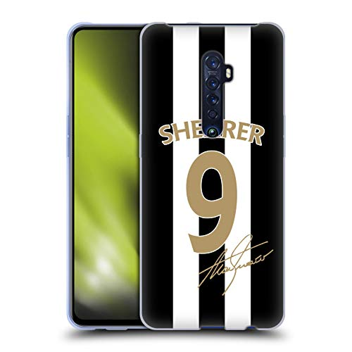 Head Case Designs Officially Licensed Newcastle United FC NUFC Alan Shearer Signed Gold Jersey Retro Badge Collection Soft Gel Case Compatible with Oppo Reno 2