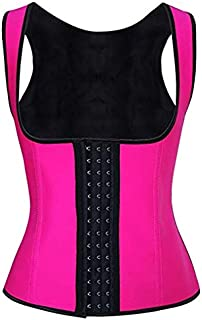 Women Underbust Latex Corset Waist for Girl Women,Sport Girdle Waist Trainer Cincher Slimming Body Shaper Steel Boned Shap...