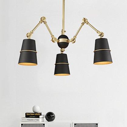 SUHAGN wall lamp Éclairage de chambre à coucher télescopique en fer pour restaurant, lampe de salon Noir doré