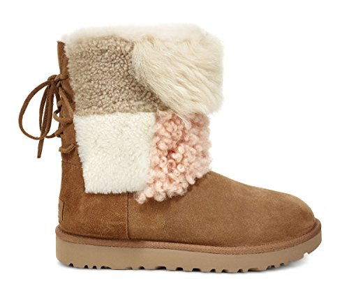 Stivales UGG Classic Charm Patch Fluff 38 Beige