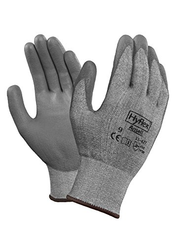 Ansell HyFlex 11-627 Glove, Cut Resistant, Polyeurethane Coating,