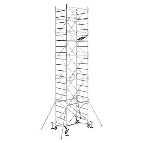 Andamio de acero con una altura de trabajo de 8,90m - Modèle M5 EASY - Made in Italy - SCEDIL