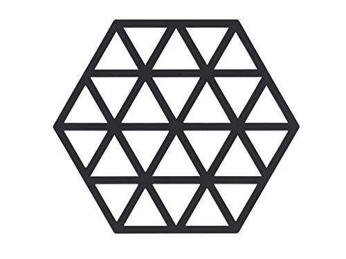 Zone Denmark Triangles Topfuntersetzer/Untersetzer für Töpfe, Silikon, 16 x 14 cm, schwarz