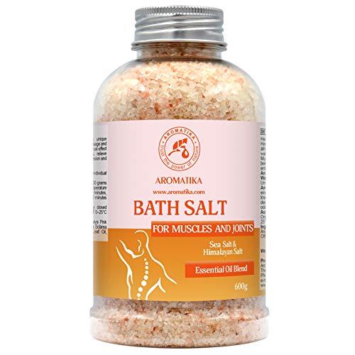Gelenke & Muskeln Badesalz 600g - mit Ätherischen Ölen Lavendel & Salbei & Rosmarin - Natürliches Badesalz mit Himalaya-Rosa Salz - Lindert Muskelkater - Wohltuendes & Wärmendes - Besten für Bad