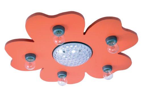 Niermann Standby plafondlamp Happy-Flower met LED-kleurenwissel-projector en afstandsbediening, oranje, 775