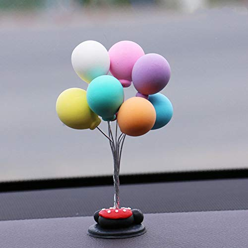 zebroau Auto-Dekoration Nettes Auto Ballon Armaturenbrett Dekoration für Autos, Büro, SUV und MPV, Bunter Ballon