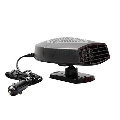 HUVE Ventilateur De Voiture 12 V avec Manche Pivotant À 360° pour Chauffage, Dégivrage Et Désembuage Rapide De Pare-Brise Fonctionnant Au Système Plug and Play
