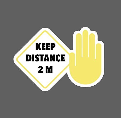 Adhesivo divertido para coche con texto en inglés «Keep Distance King» de Influent UK