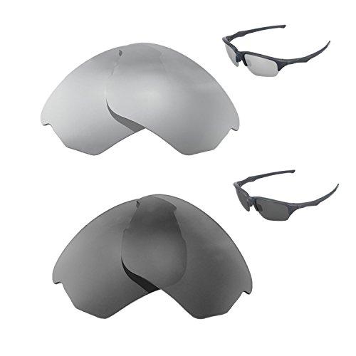 Walleva Polarisierte Titan + Schwarz Ersatzlinsen für Oakley Oakley Flak Beta