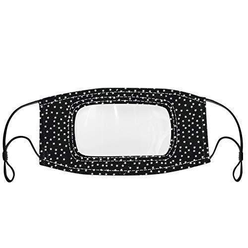 IUTE Adulto con Transparente Pantalla Protección Boca para Mujeres y Hombres, Faciales Protectoras Lavables Reutilizables