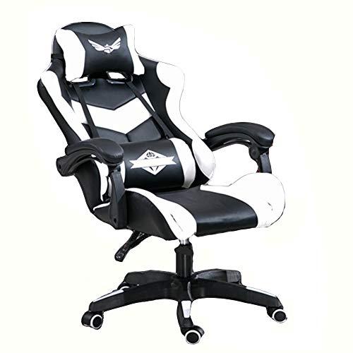 BAIYIQW - Silla de juegos, silla de carreras, silla de oficina, silla de juegos, silla de juego, respaldo, Material:, 10, nylonfeet