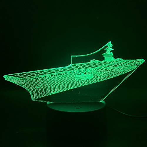Meet Beauty Ding Lámpara de escritorio para coche, motor de avión, LED 3D, luz nocturna, 7 colores, ideal como regalo de cumpleaños para hombres, niños, día del padre (11#)