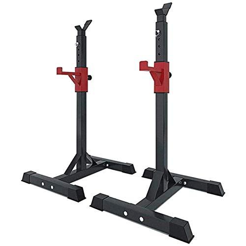 Einstellbare Barbell Squat Rack-Ständer,Gewichtheber,Solid Steel Bankdrücken Einstellbare Squat Rack,Hauptgymnastik-Ausrüstung,Maximale Belastung 260 Kg(Luftfracht)