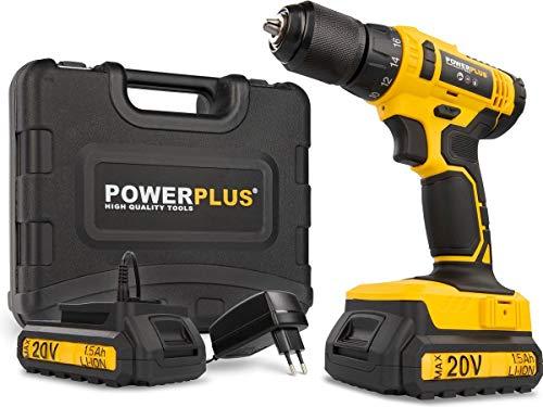 Powerplus POWX00435 POWX00435-Taladro/Atornillador 20 V Li-Ion 2 Bat