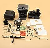 38mm cilindro pistón carburador silenciador perno estrangulador varilla del acelerador Kit de eje para STIHL MS170 MS180 017018 MS 180170 motosierra