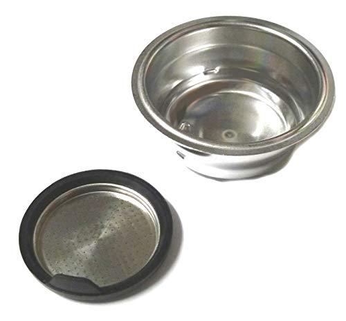 DeLonghi 7313288199 Filter 2 Tassen für Siebträger, Espressomaschinen