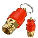 without brand ZFX-JIETOU, 1pc 1/4 '' BSP Presión 120 PSI válvula de Seguridad del compresor de Aire de Salida del regulador de 9 mm de diámetro for tuberías de presión/Buques