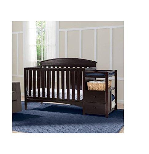 Delta Children Abby Convertible Crib and Changer, Dark Chocolate