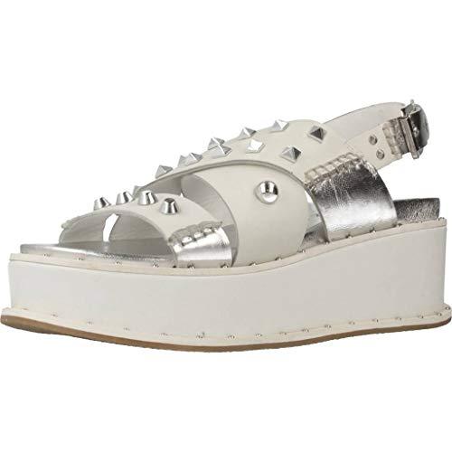 Apepazza Damen Sandalen Sandaletten CHR03 Weiß 40 EU