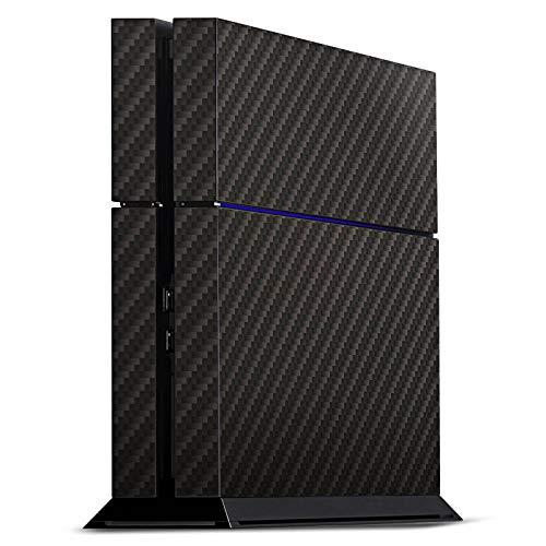 DeinDesign Skin kompatibel mit Sony Playstation 4 PS4 Aufkleber Folie Sticker Carbon Look Schwarz Grau Metal