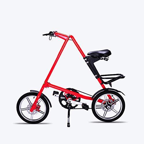 LMJ-XC Bicicleta portátil para Adultos Plegable, Rueda de