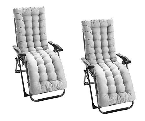DE11 2 cojines para tumbonas, fundas de columpio para jardín al aire libre, cojines de asiento de repuesto antideslizantes
