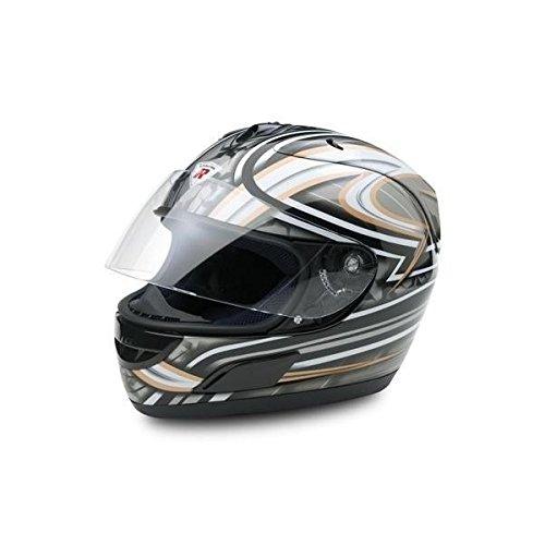 Bottari Motorradhelm Dragon, Integralhelm, Metal Black/Silver, Größe XL