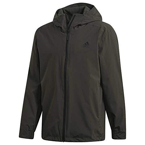 adidas Herren BSC 3S RAIN.RDY Sport Jacket, Legend Earth, M
