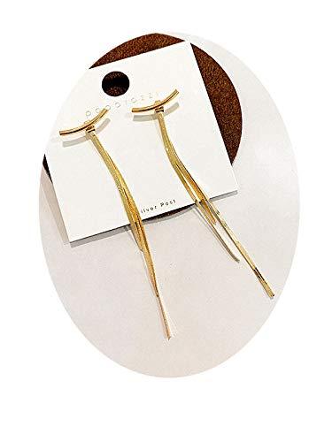 Earrings Troddelohrringe 2020 Trendy Rote Ohrringe Weiblichen Koreanisches Temperament Netto-Sterling Silber Ohrringe Langer Abschnitt Eines Einfachen Kalten Wind Langer Abschnitt/golde